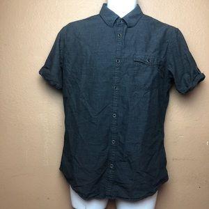 Calvin Klein Button Front Shirt Sleeve Shirt M